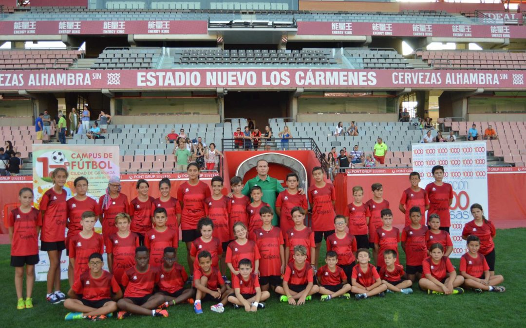 Fundación Cajasol provided scholarships paragraph 40 Enjoy the XII Campus of Soccer City of Granada